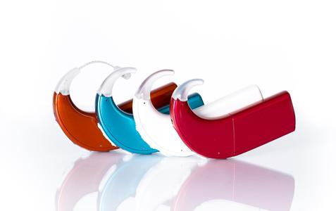 Painted hearing aids