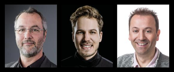 Martin Platzer (GF Zugkraft), Josef Maier (GF Peakmedia), Andreas Lanner (GF Lanmedia)