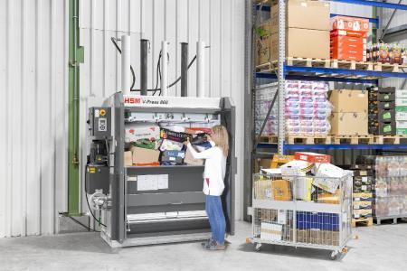 HSM V-Press 860 plus B – mit besonders breiter Einfüllöffnung