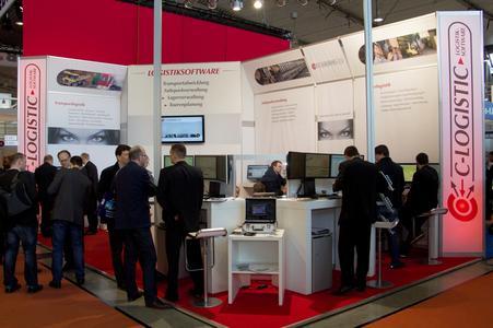 Reger Betrieb am Messestand der C-Informationssysteme GmbH