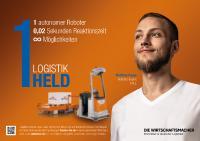 """STILL ist eines von 14 Unternehmen, die für die Logistikhelden-Kampagne einen eigenen Logistikhelden stellte / Foto: Initiative """"Die Wirtschaftsmacher"""""""