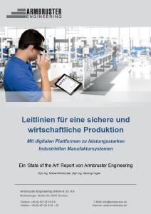 Whitepaper von Armbruster Engineering - Leitlinien für eine sichere und wirtschaftliche Produktion