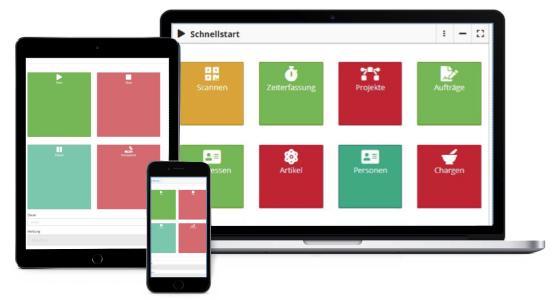Screenshot App Arbeitszeiterfassung brixxbox
