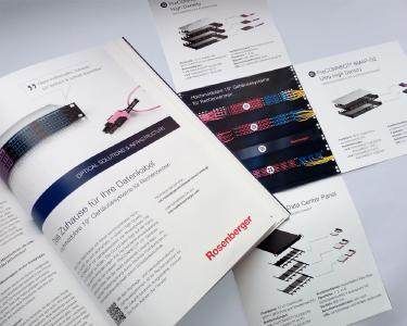 Anzeige und Folder –beide inkl. 3D-Renderings der Gehäusesysteme