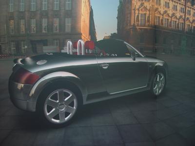 Hyper realistic reflection at Audi TT