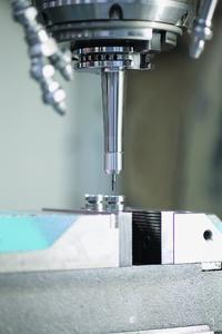 Schlank und besser als 3µm rundlaufend: das Werkzeugspannsystem micRun von Rego-Fix mit glatter Spannmutter