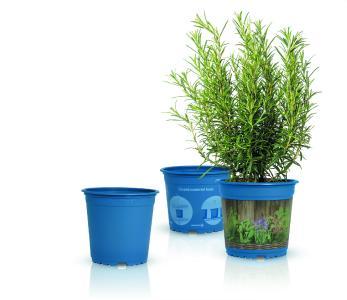 Initiative PÖPPELMANN blue® für einen geschlossenen Materialkreislauf: Komplett recycelbare Pflanztöpfe von Pöppelmann TEKU®