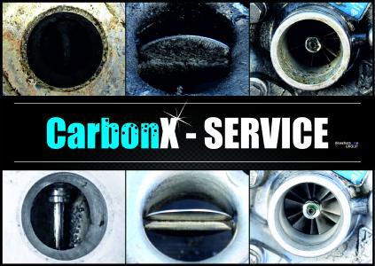 Vorher-Nachher-Bilder zur Anwendung von Carbon X