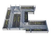 Die Grundfläche wurde optimal mit der maximal möglichen Stellplatzanzahl realisiert. Die Kombination aus Parklift 405 und Combilift 542 ergab insgesamt 143 Stellplätze.