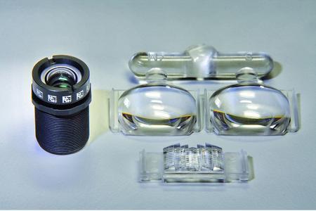 Camera lens, transmitter and receiver lens of the CV sensor