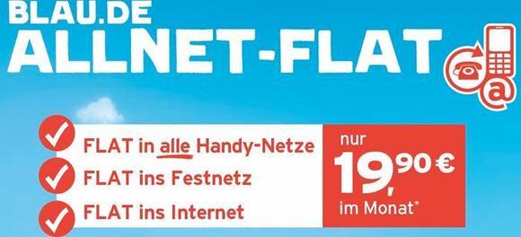 Ab heute ist die neue ALLNET-FLAT von blau.de im Fachhandel und online erhältlich