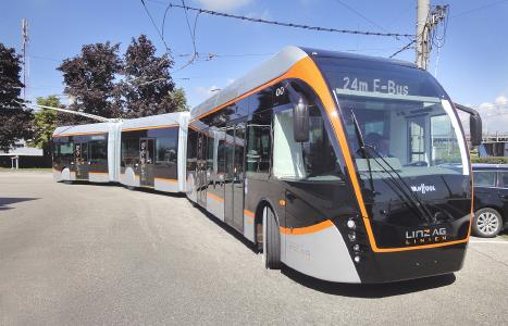 The EXQUI.CITY T in service with LINZ AG LINIEN I © Kiepe Electric GmbH