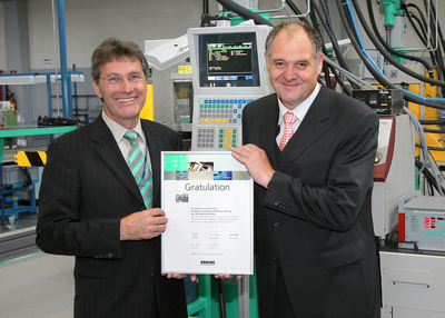 100th Arburg machine delivered to Hirschmann Austria