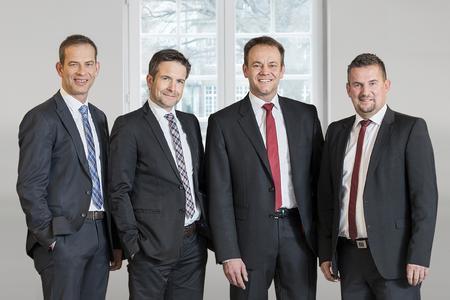 Der Vorstand von UNITY blickt auf ein erfolgreiches Geschäftsjahr zurück: Christoph Plass, Stephan Bille, Tomas Pfänder und Dr.-Ing. Frank Thielemann (v.l.)