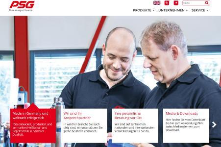 Erfolgreicher Relaunch der PSG Website, (Foto: Meusburger Gruppe)