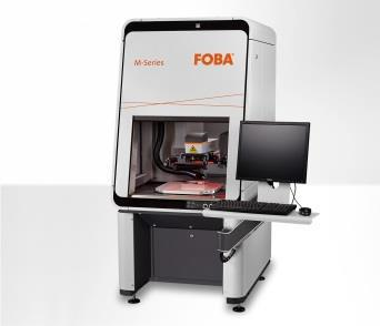 Laser marking machine FOBA M2000 with the latest generation of fiber lasers