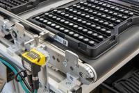DataMan barcode readers capture Data Matrix codes on component trays