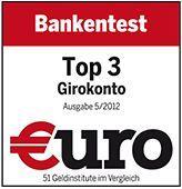 1822direkt im großen €uro Bankentest: Top 3 Girokonto