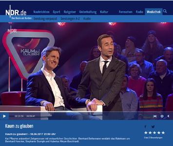 "Foto: Helmut Nägele (TECNARO GmbH) zu Gast bei Kai Pflaume ""Kaum zu glauben!"""