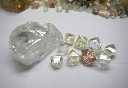 Im Juniquartal verkaufte Diamanten; Foto: Lucapa Diamond Company