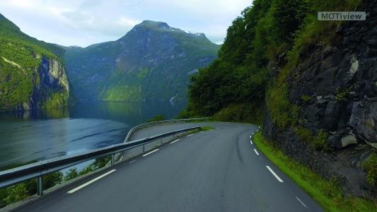 Beim Training genießen Patienten die Fahrt entlang des bekannten Geirangerfjord in Norwegen – oder können sich eigene Videos anschauen.