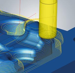 3D-Ebenenschlichten – Bearbeitung mit freier Werkzeuggeometrie, Quelle: OPEN MIND
