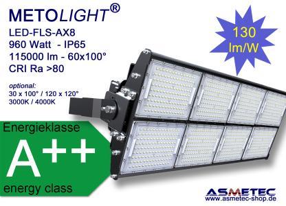 METOLIGHT LED Flutlicht FLS-AX8, 960 Watt, 115000 lm