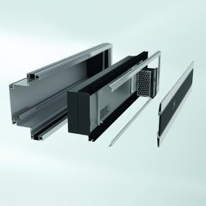 Der modular aufgebaute Lüfter Schüco VentoLife sorgt für eine automatische Luftreinigung und Frischluftzufuhr im Gebäude. Er ist im Wohn- und Objektbau einsetzbar, Bild: Schüco International KG