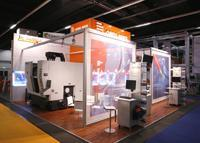 At OPEN MIND's main stand, visitors were able to see how hyperMILL® can be used to efficiently mill rims in a single setup in a 5-axis machining centre from the company ALZMETALL