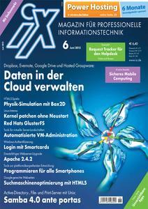 Das Titelbild der aktuellen iX-Ausgabe 6/2012