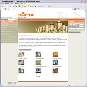 1. Online-Katalog der RÖFIX AG mit eZ Publish