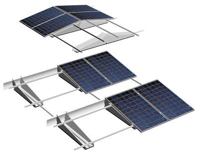 Einfache und schnelle Montage großer Solarstromanlagen mit dem Montagesystem TRIC F pro