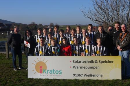 Die B-Jugend der Spielgemeinschaft Graefenberg/Weingarts