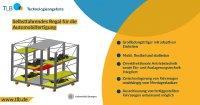 Selbstfahrender flexibler Großladungsträger für Fahrzeugkomponenten in der Automobilfertigung