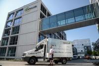 Der Umzugsspezialist Geuer International hat in Münster 150 Mitarbeiter der AGRAVIS AG in einen Neubau umgezogen..