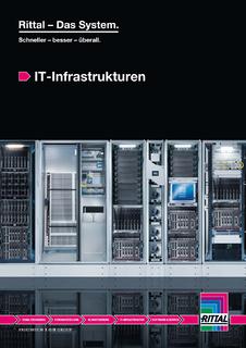 """Die neue Broschüre """"IT-Infrastrukturen"""" stellt auf 78 Seiten das Produktportfolio von Rittal im IT-Bereich dar. Quelle: Rittal GmbH & Co. KG"""