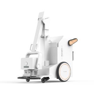 Die digitalen mobilen Röntgeneinheiten von Wandong sind extrem kompakt. Transport und Bedienung können durch eine Person erfolgen, nötige Komponenten wie Röntgendetektor, Röntgengenerator und Laptop mit Bildverarbeitungssoftware sind im Gerät vereint (Bild: Beijing Wandong Medical Technology Co. Ltd)