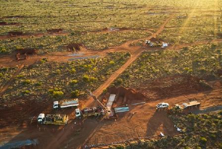 Explorationsbohrung auf Hemi; Quelle: De Grey Mining