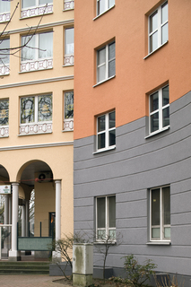 Die fertig gestellten Fassaden bieten ein einladendes Bild