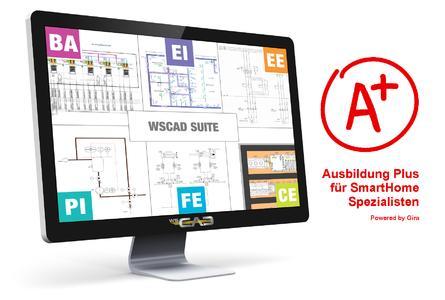 """Mit der Zusatzausbildung """"Ausbildung Plus"""" vermittelt Gira seinen Auszubildenden wertvolles Fachwissen rund um das Thema """"Intelligente Gebäudetechnik"""" mithilfe der integrierten E-CAD-Lösung von WSCAD"""