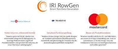 Testdaten für Alle: RowGen erstellt und füllt automatisch massive DB-, Datei- und Berichtziele mit strukturell und referentiell korrekten Testdaten - in Minuten, nicht Stunden!  Sichere Testdaten, die echt aussehen: Hören Sie auf, sich auf vertrauliche Produktionsdaten zu verlassen. Maskierte Daten sind möglicherweise nicht realistisch oder robust genug. RowGen verwendet Ihre Metadaten und Geschäftsregeln, um bessere Testdaten zu erstellen.