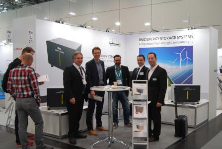 Dr. Efstratios Tapanlis (BMZ), Matthias Haag (KACO), Jürgen Griebel (BMZ), Philipp Leclerc (KACO), Björn Schenk (BMZ)