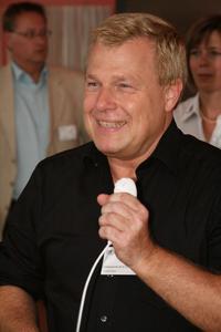 Reinhard Stüwe von Computacenter im Wii Fieber