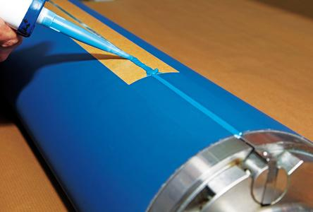 The gap-filler reduces printer waste, when the machine is restarted (Photo: ContiTech)