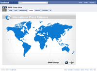 Latest press releases within the BMW Group Facebook fan site