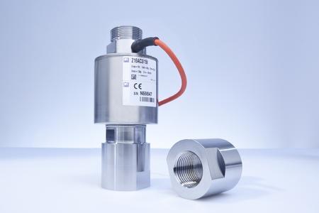 Die Zuglastwägezelle Z16A eignet sich für den hängenden Einsatz in der gravimetrischen Füllstandsmessung. Zur mechanischen Einbindung sind optional entsprechende Adapter erhältlich