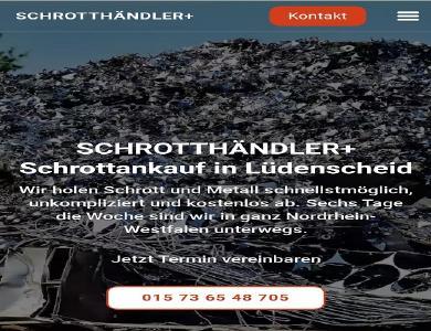 Wir kaufen in Lüdenscheid Schrott und Metalle Wir sind mobil und kommen dort hin wo Sie uns brauchen. Schrottabholung direkt vor Ort, immer in Ihrer Nähe! Wir sind Schrotthändler, die in ganz Lüdenscheid Und Umgebung unterwegs sind.