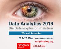 Anmeldung zur DOAG Data Analytics 2019