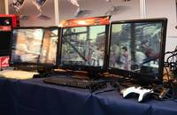 SAPPHIRE demos smooth 3D on 3 screens with ATI Eyefinity at COMPUTEX