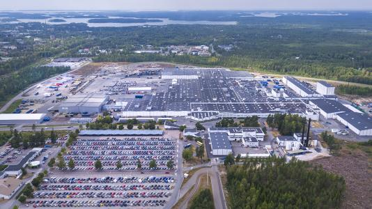 Valmet Automotive car plant Uusikaupunki, Finland. Photo: Valmet Automotive
